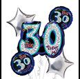 30th Birthday Balloon Bouquet - Oh No 30!