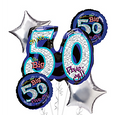 50th Birthday Balloon Bouquet - Oh No 50!