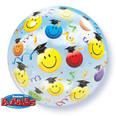 "22"" Graduate Smile  Faces See Thru Bubble Balloon"