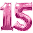 15Th Birthday Pink Numbers