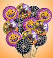 Small Halloween Mylar Balloon Bouquet