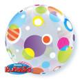 """22"""" Polka Dots and Dots Bubble Balloon"""