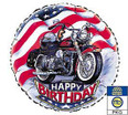 """Harley"" Happy Birthday Mylar Balloon 18"""