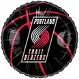 Portland Trail Blazers Black Basketball Balloon with Logo