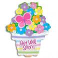 Get Well Soon Basket of Blooms BalloonBloom