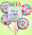 Big White Birthday Cake Mylar Bundle
