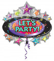 Let's Party Marque Balloon
