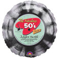 The fabulous 50s jukebox record balloon