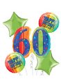 60th Birthday Balloon Bouquet - A Year to Celebrate