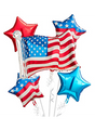 American Flag Balloon Bouquet