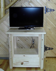 Space Saver Log TV Stand