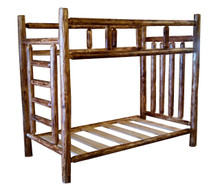 Burnt Cedar Log Bunk Beds