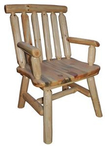 Log Dining Chair with Arms