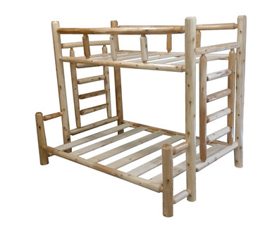 Rustic Cedar Log Bunk Beds With Free Shipping