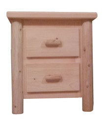 Original Two Drawer Log Nightstand