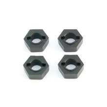 TKR1654 – 12mm Hex Adapters for EB410 +1mm / M6 Driveshafts (front/rear, Slash/Stmpd 4×4, 2WD, 4pcs)