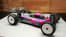 A2 Tactic body and wing combo (clear) for AE B64D 1/10 4wd buggy