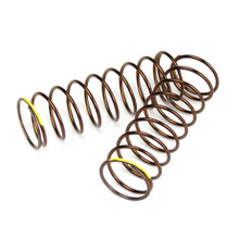 TKR7245 – Shock Spring Set (rear, 1.3×9.875, 2.82lb/in, 63mm, yellow)