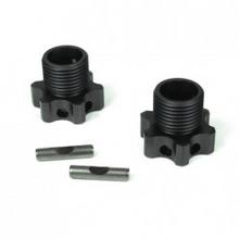 TKR5071C – Wheel Hubs (17mm, lightened, aluminum, gun metal ano, 2mm offset, w/pins, 2pcs)