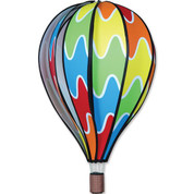 "22"" Rainbow Hot Air Balloon Spinner"
