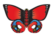 """32"""" Butterfly Indian Red"""