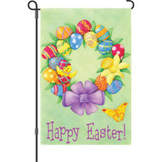 12 in. Flag - Happy Easter Wre
