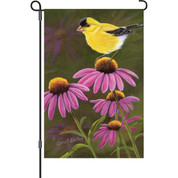 12 in. Flag - Goldfinch On Cone