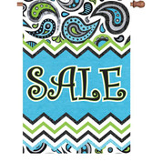 28 in. Flag - Paisley Sale