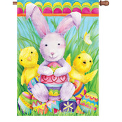 28 in. Flag - Bunny And Friends