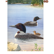 28 in. Flag - Loon Family