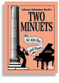 Bach's Two Minuets For Alto Sax & Piano
