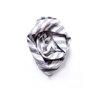 white organic cotton scarf