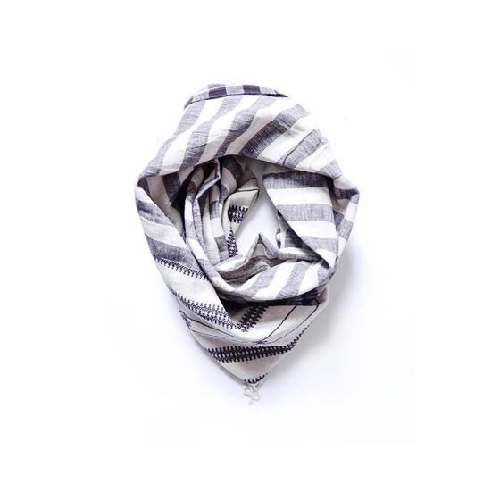 white organic cotton scarf