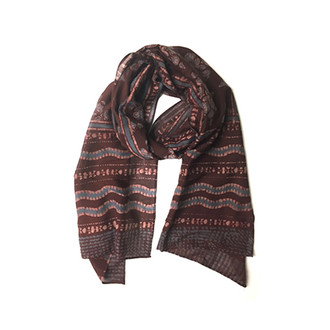 brown artisan scarf