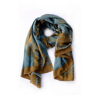 blue-green scarf