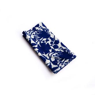 floral blue napkins