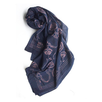large mauve fall scarf