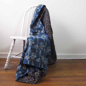 kantha quilt throw