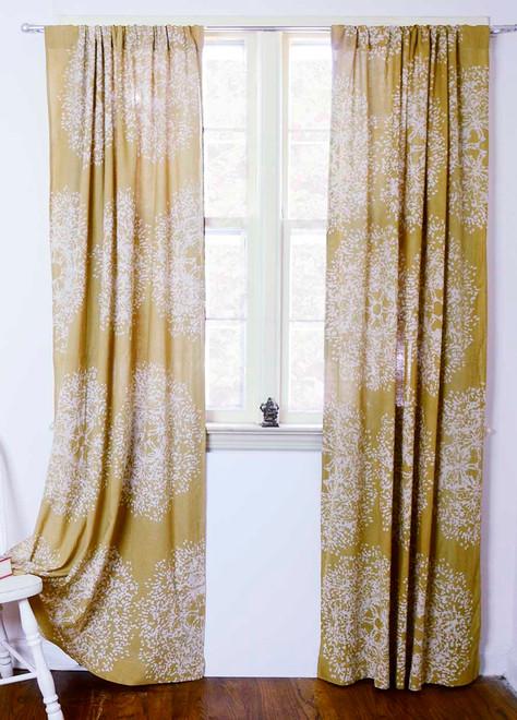 Yellow Curtains   Bohemian Sheer Curtain Panels | Ichcha  Mustard Yellow Curtains