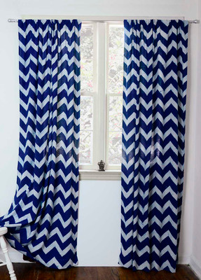 blue chevron curtains