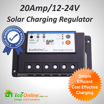 20Amp EcoOnline Solar Charge Controller/Regulator (for Solar Charging Lead-Acid Batteries)