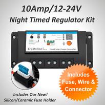 10Amp EcoOnline Night Timed Solar Charge Controller/Regulator Kit (for Solar Charging Lead-Acid Batteries)