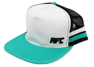 Teal and White Hat