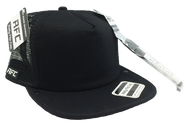 Plain Black Interior Trucker Flip Cap