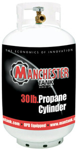 30 lbs (7 Gallon) Manchester Propane Tank without Gauge