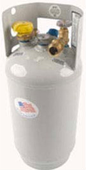 14.25 lb, 3.2 gallon Steel Forklift Cylinder with VAPOR Withdrawal Valve and Fill valve