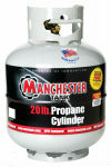20 lb (5 Gallon) Gray Portable Propane Tank / Propane Cylinder without Gauge