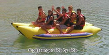 6 person side by side banana boat