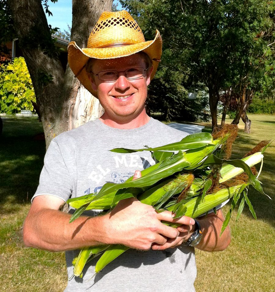 Rick with Corn