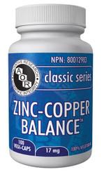 Zinc-Copper Balance 17mg 100 vegi-caps